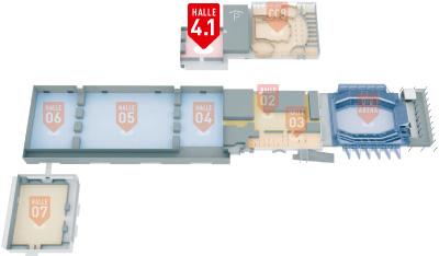 Hallenuebersicht MESSE BREMEN Halle 4.1