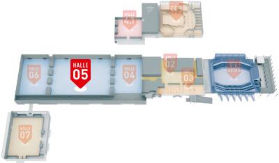 Hallenuebersicht MESSE BREMEN Halle 5