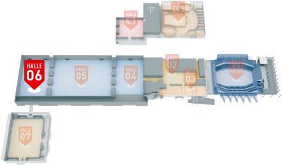 Hallenuebersicht MESSE BREMEN Halle 6